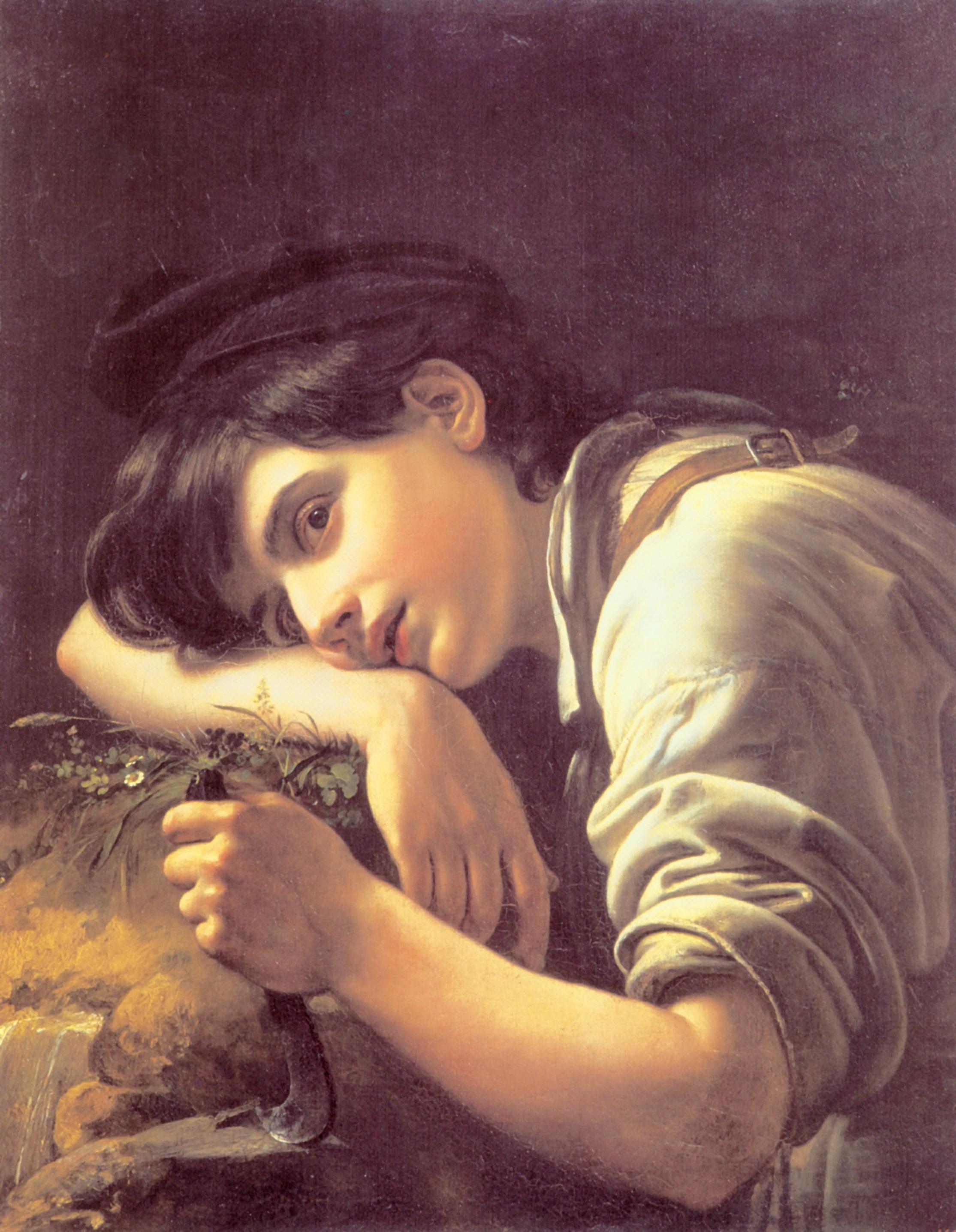 Молодой садовник, Кипренский Орест Адамович