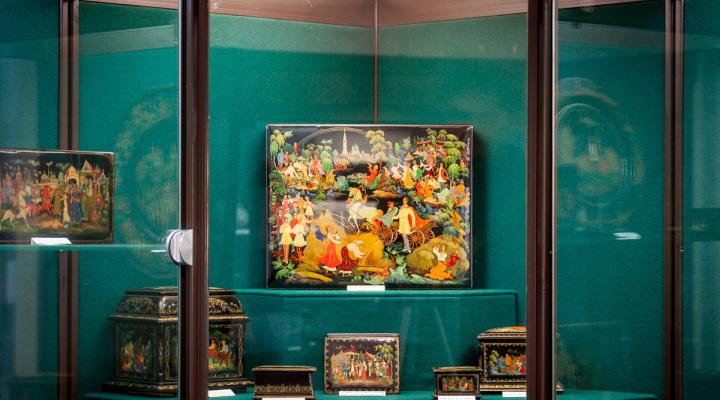Экспозиция музея Палехского искусства