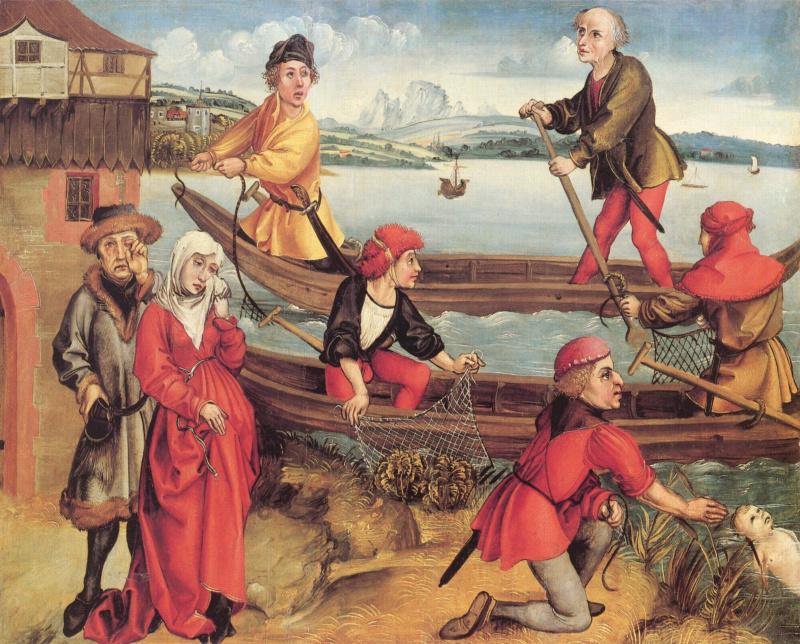 Чудесное спасение утонувшего мальчика из Брегенца, , Альбрехт Дюрер
