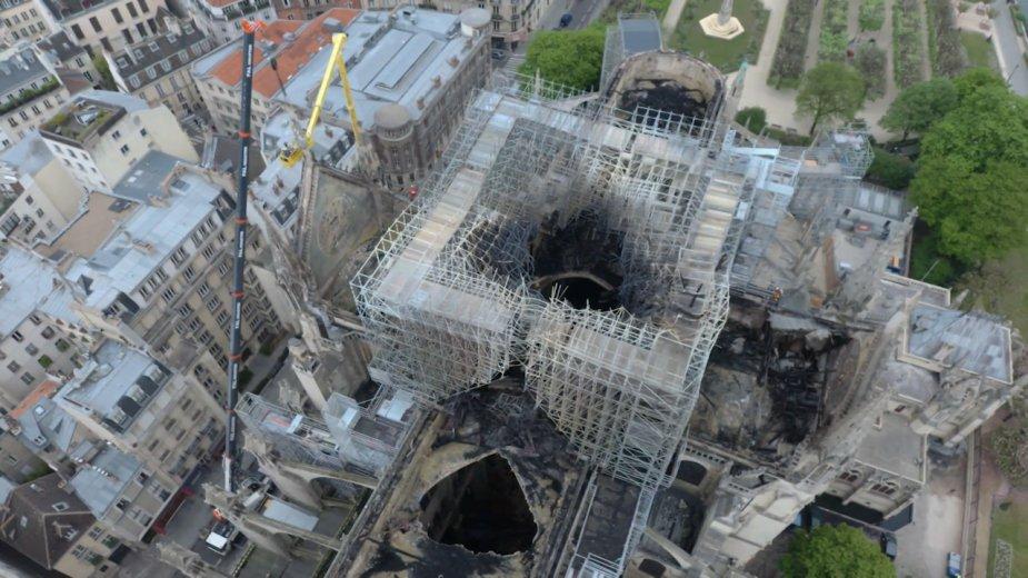 Нотр-Дам де Пари после пожара